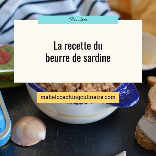 """Titre de l'article """"la recette du beurre de sardine"""""""