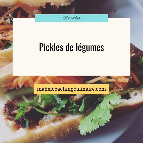 recette de pickles de légumes